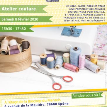 Atelier couture : fabriquez votre kit vaisselle zéro déchet, 100% récup'
