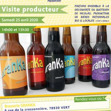 Visite producteur Brasserie Granka à Vert
