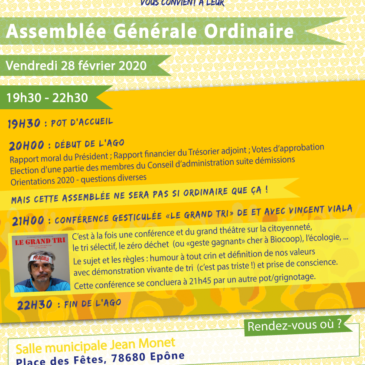 Assemblée Générale Ordinaire des Biocoopains