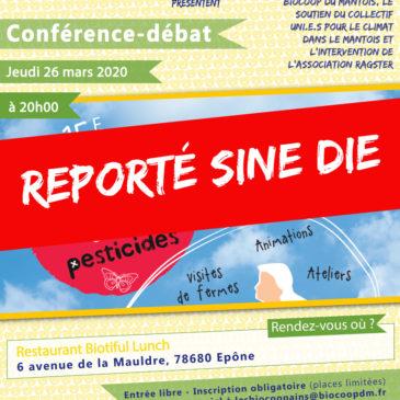 Report sine die de la conférence-débat sur les pesticides prévue le jeudi 26 mars 2020