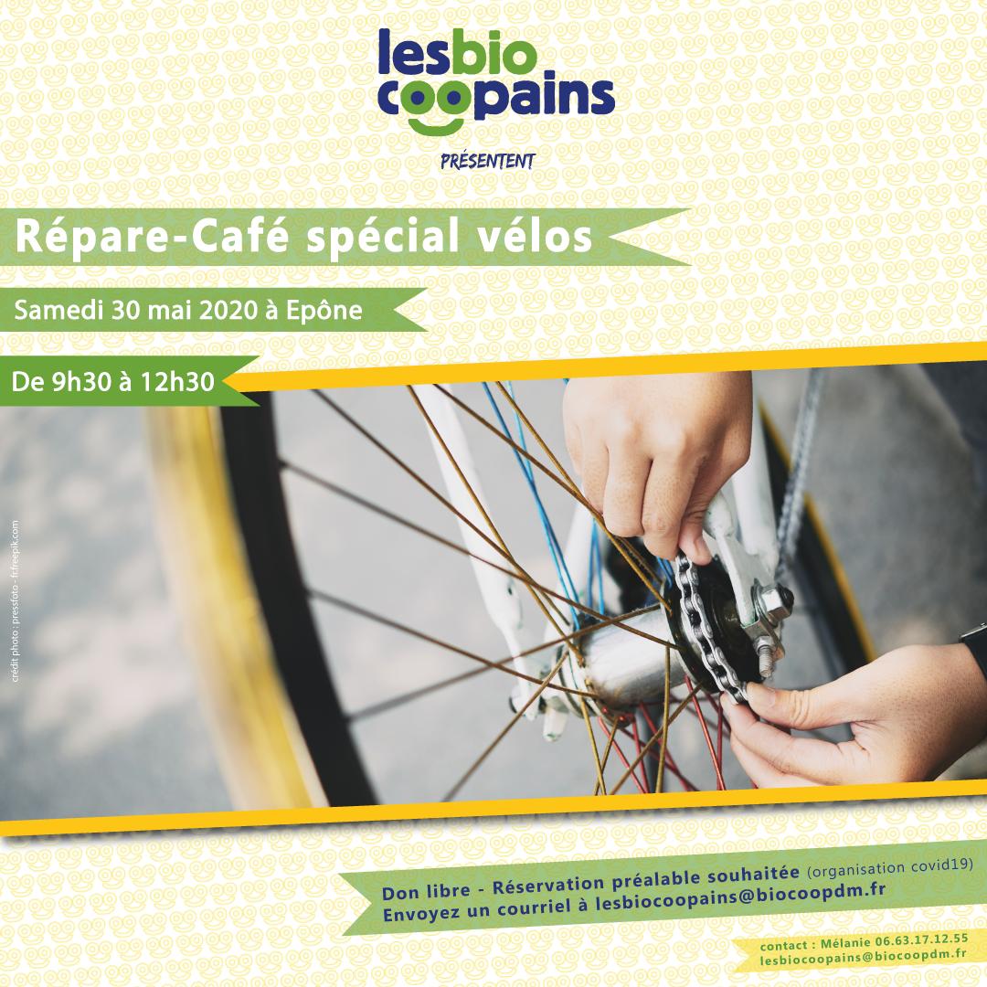 Les Biocoopains organisent leur premier Répare-Café (sans café) autour des vélos !