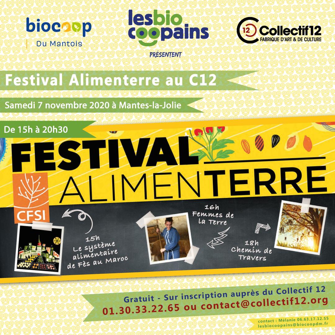 Rdv le samedi 7 novembre 2020 au Collectif 12 pour notre Festival Alimenterre