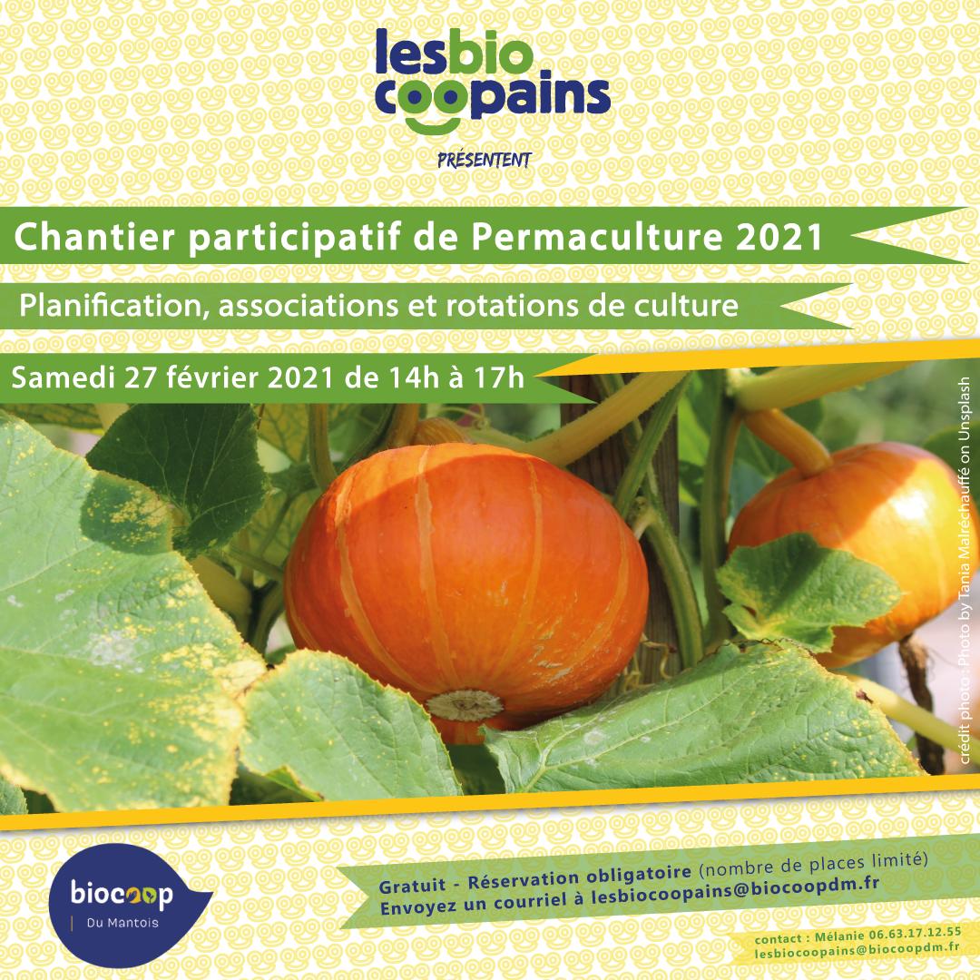 Rdv samedi 27 février pour le troisième atelier de notre chantier participatif permacole 2021