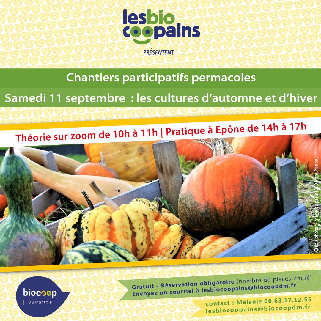Chantier participatif permacole n°12 sur les cultures d'automne et d'hiver le samedi 11 septembre 2021