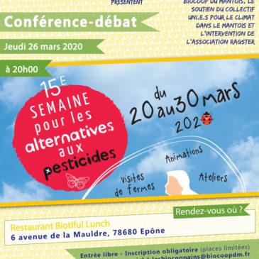 Conférence-débat sur les pesticides et nano-particules, les SDHI, les «PIG»