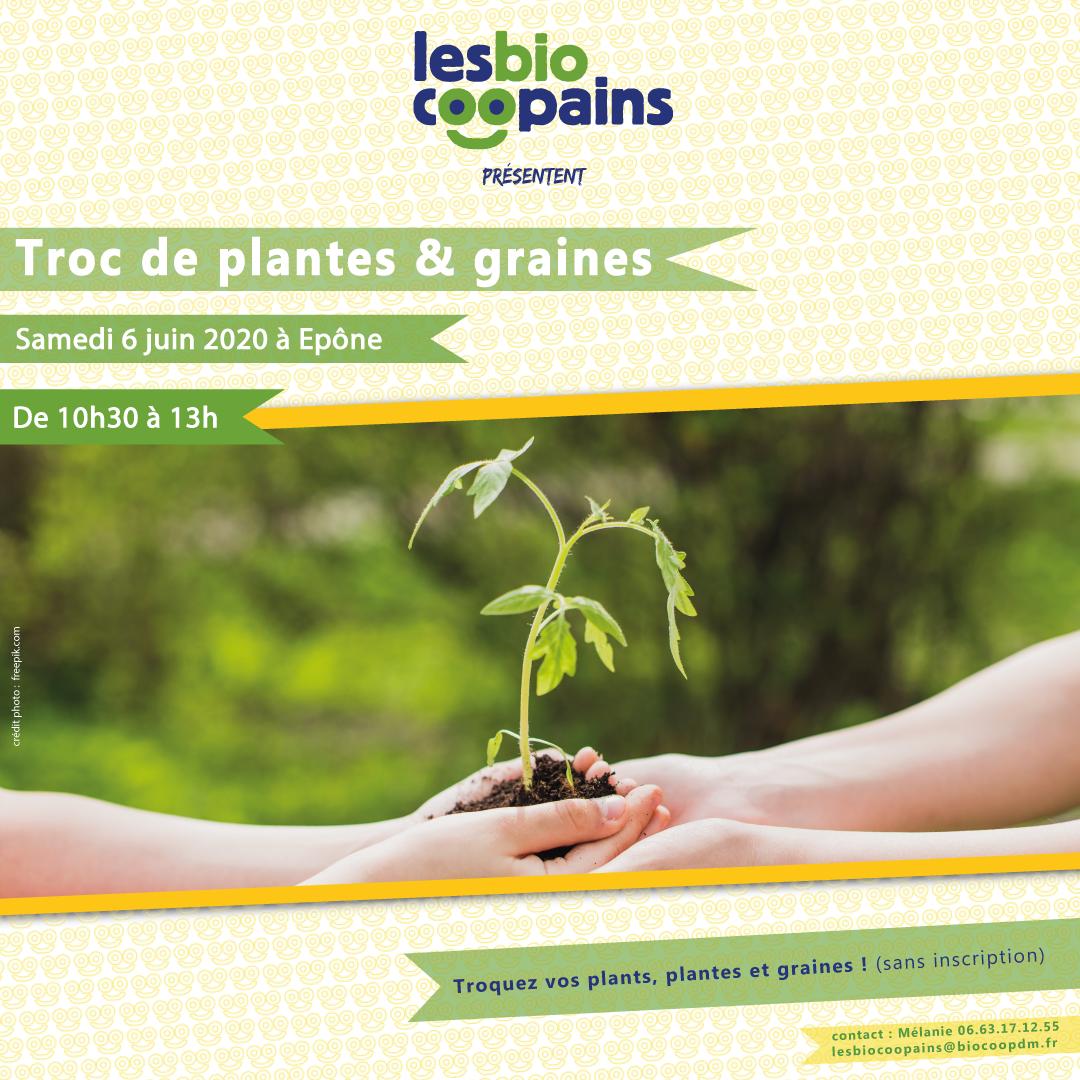Troc de plantes & graines le samedi 6 juin 2020 de 10h30 à 13h